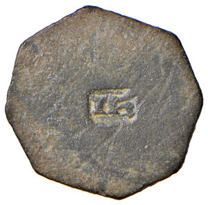 reverse: Milano. Epoca di Luigi XII re di Francia (1500-1513). Peso monetale del grosso regale da 6 soldi AE gr. 3,70. Borzone –. Buon BB