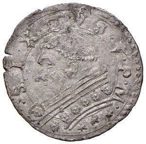 obverse: Montalto. Sisto V (1585-1590). Baiocco MI gr. 1,12. Muntoni 129. Berman 1383. MIR 1379/25. Raro. Buon BB