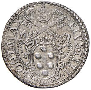 obverse: Ancona. Pio IV (1559-1566). Testone AG gr. 9,54. Muntoni 49. Berman 1072. Dubbini-Mancinelli pag. 144 (2° tipo). MIR 1060/8. SPL/q.SPL