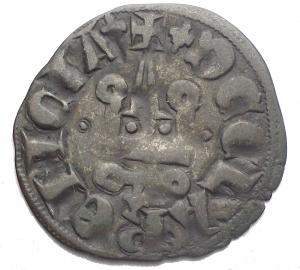 obverse: CHIARENZA. Filippo di Taranto (1307-1313). Denaro tornese. gr 0,66. mm 18,98. Gamb. 208. MI. BB+