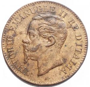 reverse: Savoia - Vittorio Emanuele II. 1861-1878. 2 Centesimi 1867 T. SPL. R.
