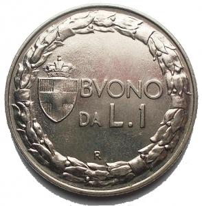 reverse: Buono 1 Lira 1922. Ottimo esemplare