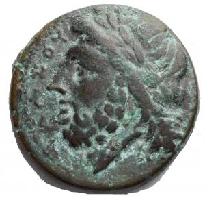 obverse: Varie - Apulia Arpi (III sec. a.C.) Obolo. D/ Testa di Zeus a sinistra. R/ Cinghiale a destra, sopra punta di freccia. Gr 8,25. Mm 21,2. AE. SNG ANS 635. Bel BB+ Bell esemplare