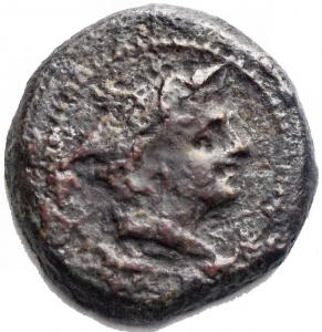 obverse: Varie. Anonymous. Circa 211-206 BC. Æ Semuncia (17,12 x 17,71 mm - 3,38 g). Luceria mint. Draped bust of Mercury right, wearing winged petasus / Prow of galley right; ROMA above, L below. Cf. Crawford 43/6; cf. Sydenham 130; Type as RBW 157. a VF