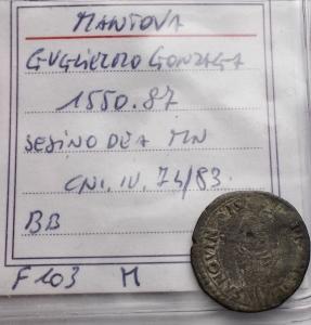 reverse: Zecche Italiane - Mantova. Guglielmo II Gonzaga 1550-1587. Sesino