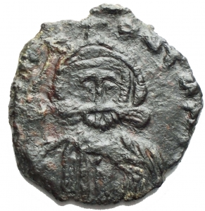 reverse: Leo III AD 717-741, with Constantine V, AE Follis (18,8 x 20,0 mm, 2.50 gram) Syracuse