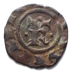 obverse: Messina. Manfredi (1258-1266) Denaro. D/ S e croce. R/ R. MI, 0.79gr. Sp.199. R. BB-SPL