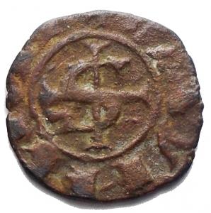 reverse: Messina. Manfredi (1258-1266) Denaro. D/ S e croce. R/ R. MI, 0.79gr. Sp.199. R. BB-SPL