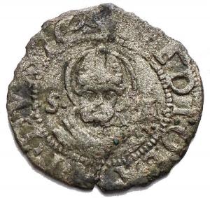 obverse: Milano. Ludovico XII d Orleans (1500-1513). Trillina. CNI 122/125. Cr. 16. MIR 249. MI. g. 0,72. mm. 15,96. NC. qBB.