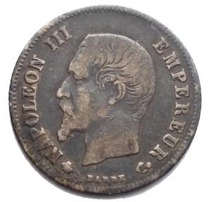 obverse: Monete del Mondo - Francia. Napoleone III. 20 Centesimi 1860. BB