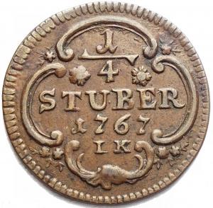 obverse: Monete del Mondo - Germania. Koln. 1/4 Stuber 1767