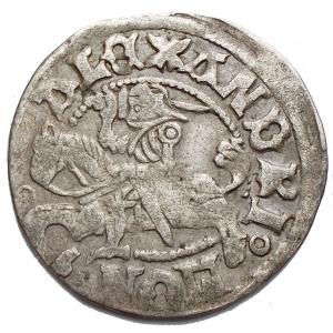 obverse: Lituania - Alexander Jagiellon (1492 - 1506) Half-groat, 1495 - 1506 (Undated), Vilnius mint. Ag. g 1,37. mm 21,04.