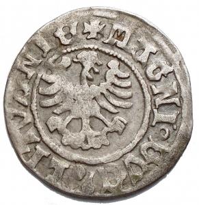 reverse: Lituania - Alexander Jagiellon (1492 - 1506) Half-groat, 1495 - 1506 (Undated), Vilnius mint. Ag. g 1,37. mm 21,04.