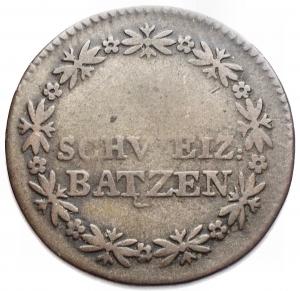 obverse: Monete del Mondo - Svizzera. 1 Batzen 1820