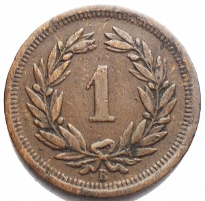 obverse: Monete del Mondo - Svizzera. 1 Rappen 1902