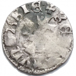 reverse: Ungheria. Louis I° d Anjou 1342-1382. Denar. gr 0,47