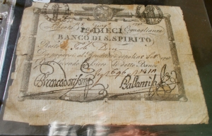obverse: Cartamoneta - Repubblica Romana Dieci Paoli a