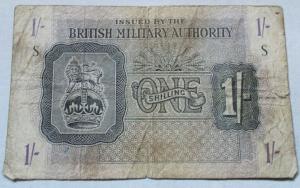 obverse: Cartamoneta - Occupazione Militare Inglese in Italia 1 Shilling British Military Authority