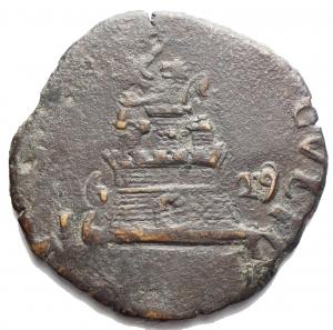 reverse: Zecche Italiane - Napoli. Filippo IV. 1621-1665. 9 Cavalli 1629. Ae. P.R. 83. Peso 6,16 gr. Diametro mm. 26,55.