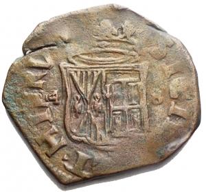 reverse: Zecche Italiane - Napoli. Filippo IV. 1621-1665. Grano 1648. Ae. Peso gr. 8,63. Diametro mm. 28,52. BB+. R