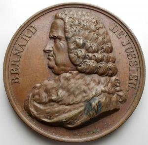 obverse: Medaglie - France. Medaille. Bernard De Jussieu. gr 37,08. mm 41,05. Ottima