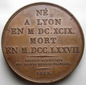 reverse: Medaglie - France. Medaille. Bernard De Jussieu. gr 37,08. mm 41,05. Ottima