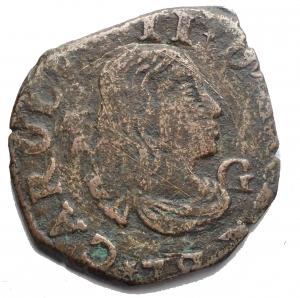 obverse: Zecche Italiane. Napoli. Carlo II (1676-1700). Tornese 1679. AE. g 3,91. mm 21,2