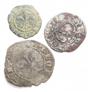obverse: Lotti - Firenze e Siena insieme di 3 esemplari. g 0,42 - g 1,07 - g 0,73