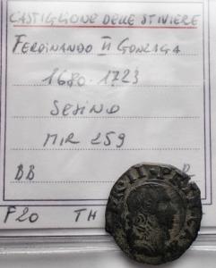 obverse: Zecche Italiane - Castiglione Delle Stiviere. Ferdinando II Gonzaga. 1680-1723. Sesino