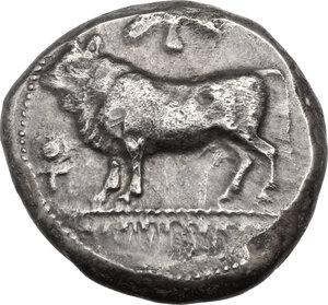Cyprus, Paphos.  King Onasi. AR Stater, mid 5th century BC