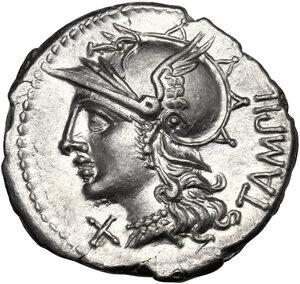 M. Baebius Q. f. Tampilus. AR Denarius, 137 BC
