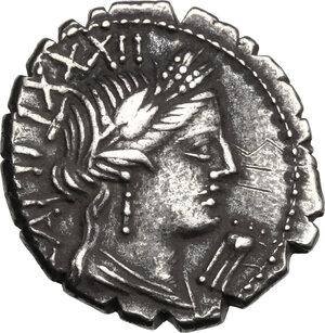 C. Marius C.f. Capito. AR Denarius serratus, 81 BC