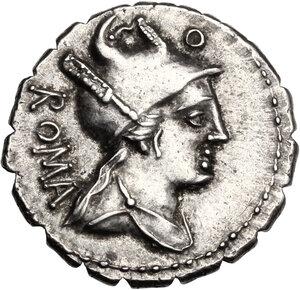 C. Poblicius Q. f. AR Denarius serratus, 80 BC