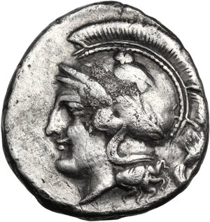 Central and Southern Campania, Hyrietes. AR Didrachm, c. 405-385 BC