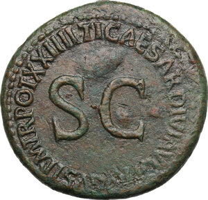 reverse: Julia Augusta (Livia), wife of Augustus (died 29 AD). AE Sestertius, struck under Tiberius