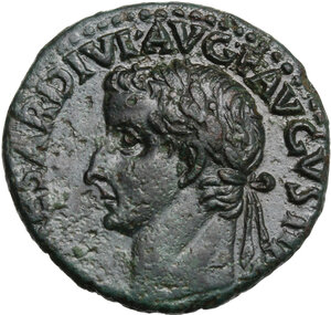 obverse: Tiberius (14-37). AE As, Rome mint, 36-37 AD