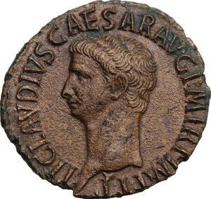 obverse: Claudius (41-54). AE As, Rome mint, 50-54 AD