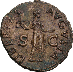 reverse: Claudius (41-54). AE As, Rome mint, 50-54 AD