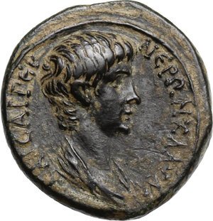 obverse: Nero as Caesar (50-54). AE 17 mm. Struck under Claudius. Thyateira mint, Lydia