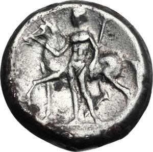 reverse: Central and Southern Campania, Nuceria Alfaterna. AR Didrachm, c. 250-225 BC