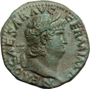 obverse: Nero (54-68). AE As, Rome mint