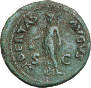 reverse: Galba (68-69). AE As, Rome mint