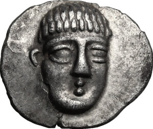 obverse: Central and Southern Campania, Phistelia. AR Obol, c. 325-275 BC