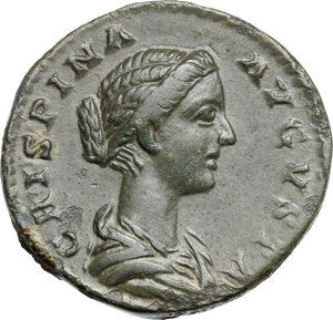 obverse: Crispina, wife of Commodus (died 183 AD). AE Dupondius, Rome mint