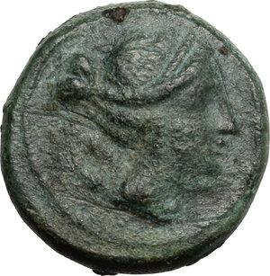 obverse: Eastern Italy, Larinum. AE Semuncia, c. 210-175 BC