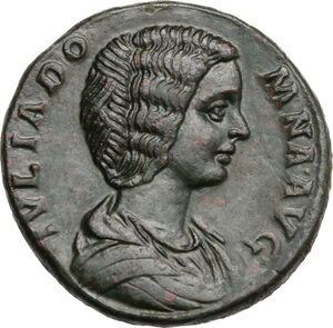 obverse: Julia Domna, wife of Septimius Severus (died 217 AD). AE Sestertius, 193-196