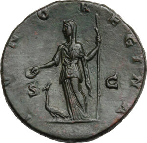 reverse: Julia Domna, wife of Septimius Severus (died 217 AD). AE Sestertius, 193-196