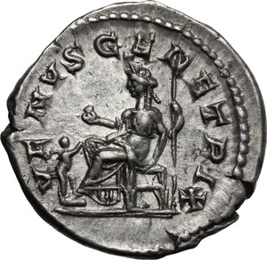 reverse: Julia Domna, wife of Septimius Severus (died 217 AD). AR Denarius, struck under Caracalla, c. 215-217 AD