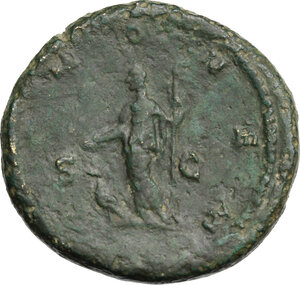 reverse: Julia Domna, wife of Septimius Severus (died 217 AD). AE Sestertius, Rome mint. Struck under Caracalla, 211-215 AD