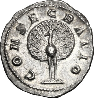 reverse: Paulina, wife of Maximinus I (died 235 AD). AR Denarius. Consecration issue, Rome mint, 236 AD